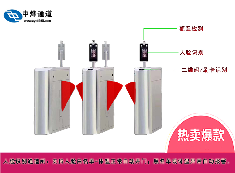Face temperature swing gate ZY-N309,Face temperature swing gate