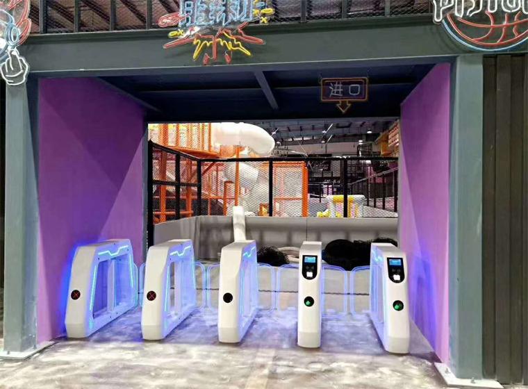 Swing gate of amusement park ticketing system